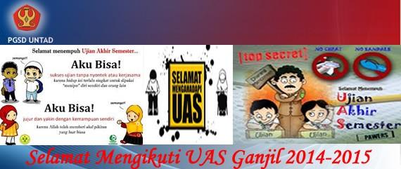 Jadwal UAS Ganjil 2014-2015